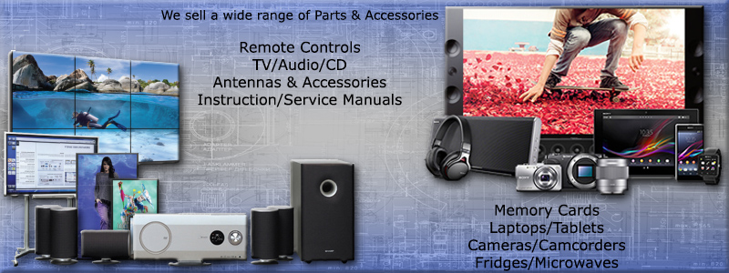 We sell a wide range of Parts & Accessories - Remote Controls, TV/Audio/CD Antennas & Accessories, Instruction/Service Manuals, Memory Cards and more!