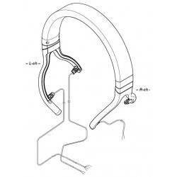 Sony Headphone Head Band for MDR-1A for SILVER **No longer available**