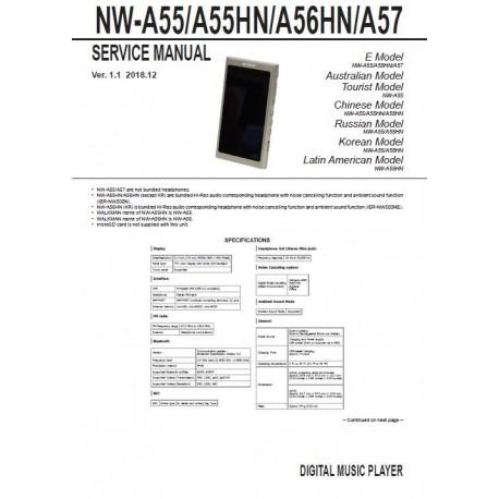 Sony NW-A55 Service Manual