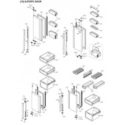 Sharp Refrigerator Exploded Diagram SJ-F65PC-WH / SJ-F65PC-SL