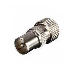 Metal Coax Plug  (SCREW) - MALE
