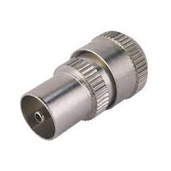 Metal Coax Socket (SCREW) - FEMALE