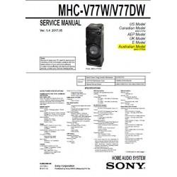 Sony MHC-V77W / MHC-V77DW Service Manual