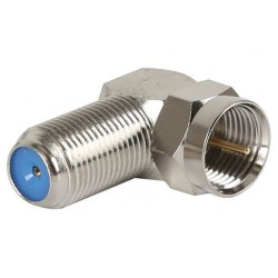 Metal F Male to F Female Right Angle Adaptor