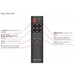 BAUHN EASY TV Remote for ATV50UHD-1219