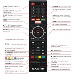 BAUHN TV Remote for ATV65UHDS-0120