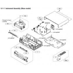 SLV-EZ141AZ / SLV-EZ745AZ Sony VCR Exploded Diagram