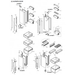 Sharp Refrigerator Exploded Diagram SJF60PS/SL / SJF60PS/WH