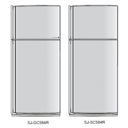 Sharp Refrigerator Exploded Diagram SJ-GC584R-BK/SL / SJ-SC584R-SL/WH