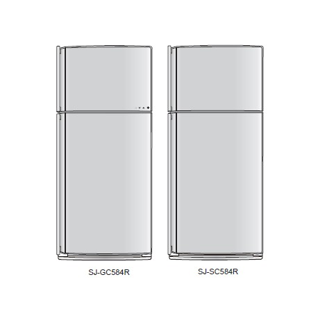 Sharp Refrigerator Exploded Diagram SJ-GC584R-BK/SL / SJ-SC584R-SL/WH