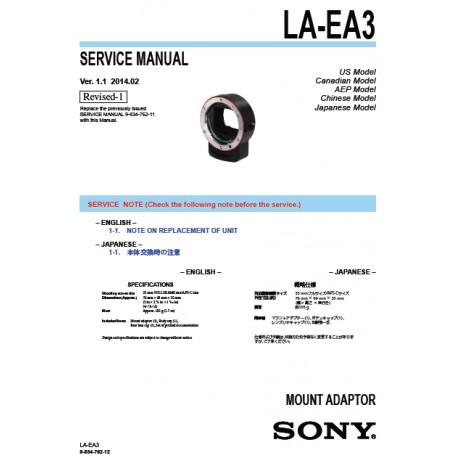 Sony LA-EA3 Service Manual
