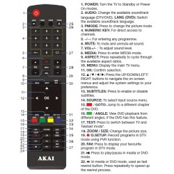 AKAI TV Remote for AK402017FHDC