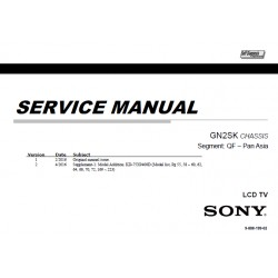 Sony KD55X9300D / KD65X9300D / KD75X9400D TV Service Manual