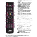 AKAI TV Remote for AK40HK / AK24CTV