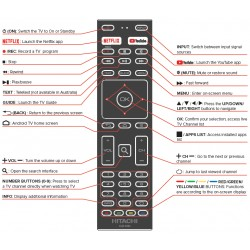 HITACHI CLE-1044 TV Remote for 40FHDGTV