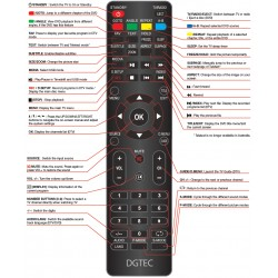 DGTEC TV Remote for DG5516UHD