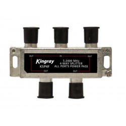 KINGRAY 4 Way F-Type Splitter 5-2400MHz