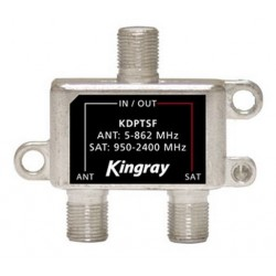 KINGRAY 2 Way F-Type Diplexer 5-2400MHz