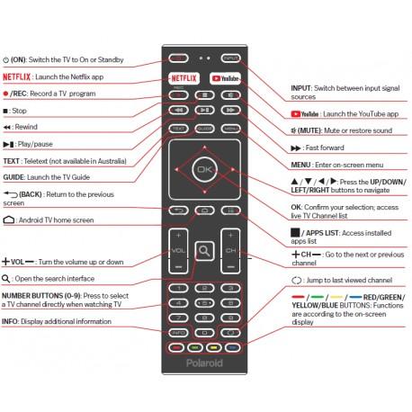 Polaroid TV Remote for PL3220HDG / PL4020FHDG