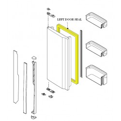 Sharp Refrigerator LEFT Door Seal for SJ-F60PS/SL / SJ-F60PC-SL/WH