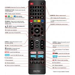 DGTEC TV Remote for DG40FHDNF