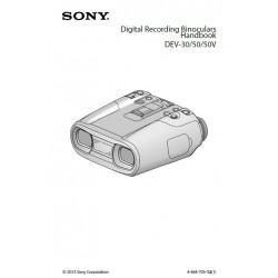 Sony Binoculars Instruction Manual DEV-30 / DEV-50 / DEV-50V