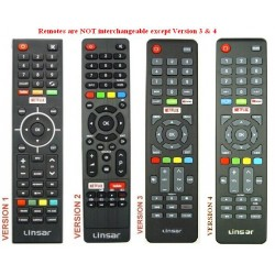 LINSAR TV Remote for LS58UHDSM20 / LS75UHDSM20
