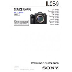 Sony ILCE9 Service Manual