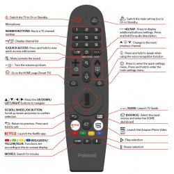 Polaroid TV Remote for PL65UHDOS