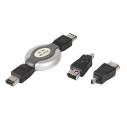 Firewire (i-Link/DV) Cable 4pin to 6pin 2 Meter