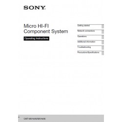Sony Audio Instruction Manual CMTMX700NI / CMT-MX750NI