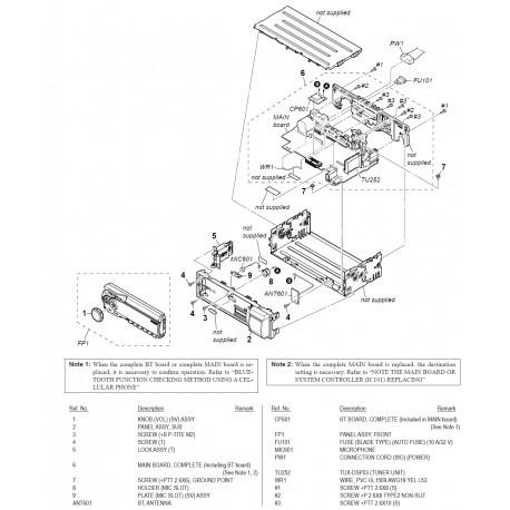 DSXA60BT Sony Audio Exploded Diagram