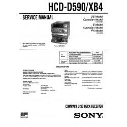 Sony HCD-D590 ( HCD-XB4 / LBT-XB4 / LBT-D590 ) Service Manual