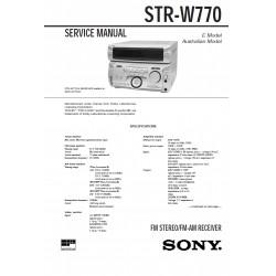 Sony STR-W770 (MHC-W770AV) Service Manual
