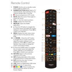 HITACHI CLE-1025 TV Remote for UZ496600 / UZ556600 / UZ656600
