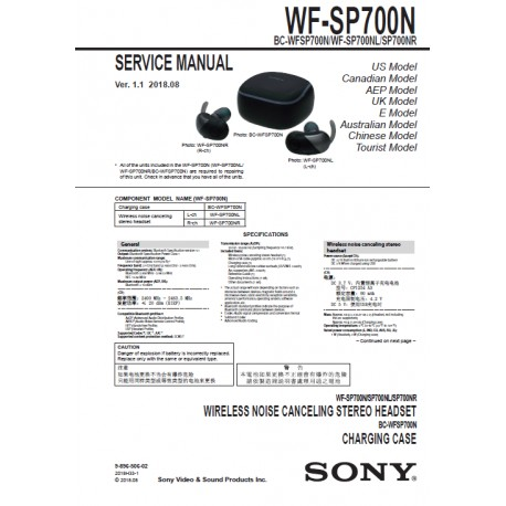 Sony WF-SP700N Service Manual