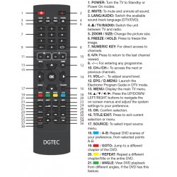 DGTEC TV Remote for DGVJ65TV