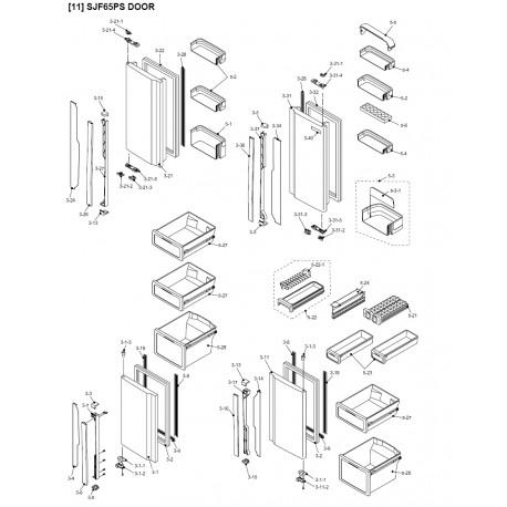 Sharp Refrigerator Exploded Diagram  SJ-F65PS-SL