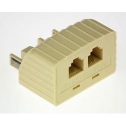 Modular Double Adaptor (6P4C)