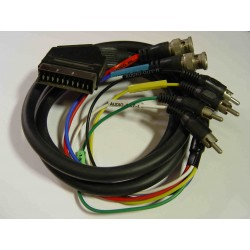 Audio / Video  SCART Plug to 4 RCA Plugs & 2 x BNC Plugs