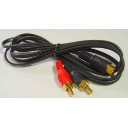 Lead 4 Pin Mini DIN  to 2 RCA Plugs