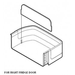Sharp Fridge Door Bottle Pocket - Right SJF602SPBK  SJFS676VBK/SL SJFP624VSL  SJFP624VBK  SJF653SPBK  SJF653SPSL  SJFP676VSL