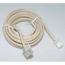 RJ12 Phone Extension Cord - 10m Ivory
