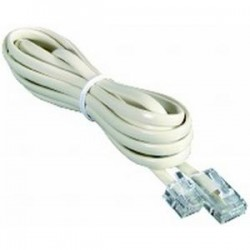 RJ12 to RJ45 Extension Cord - 2m Ivory
