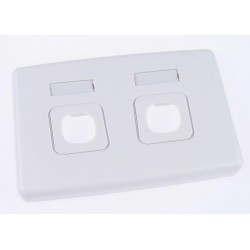 Keystone Insert Wall Plate - Double