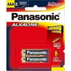Battery AAA LR03 Alkaline Batteries 2 Pack