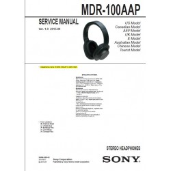 Sony MDR-100AAP Service Manual