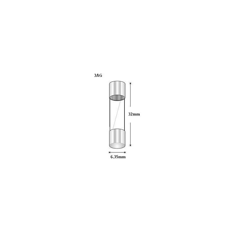 Glass Fuse 3ag 10amp Slow Blow Lrg10asb