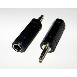 Adaptor - 3.5mm MONO Plug to 6.35mm STEREO Socket