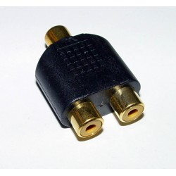 Adaptor - 2 RCA Sockets to 1 RCA Socket